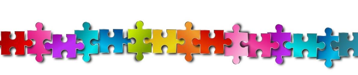 puzzle reihe bunt banner band verbindung